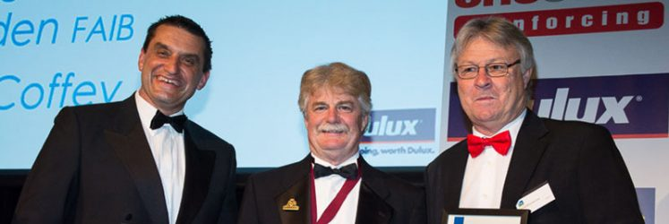 2015 National Professional Excellence in Building Awards, ArPM Director Damian Rogers (middle)
