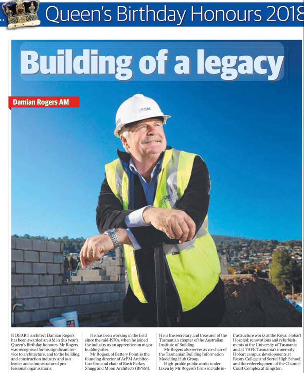 Damian Rogers named member of the Order of Australia The Mercury news article